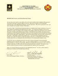 thank you letter to child youth and school services team members management command leaders thank child care and youth school age services employees photo credit u s army