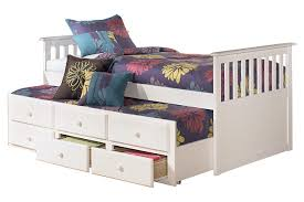 white lulu twin trundle bed view 2 ashley leo twin bedroom set