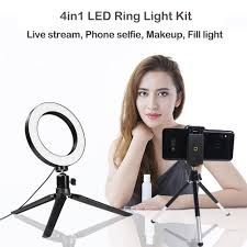 16cm & 20cm <b>Dimmable LED Selfie</b> Light <b>Photography</b> Studio ...
