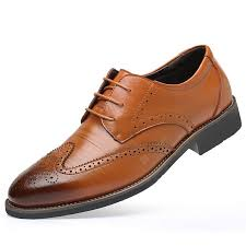 Bullock Carved <b>Men's Business</b> Dress Shoes British Style Trend Of ...