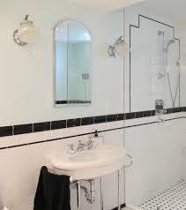 chic art deco bathroom affordable bathroom lighting