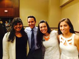the college of business at acu spotlight on samantha matta students at hispanic heritage banquet