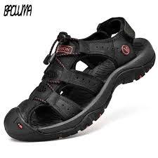 <b>Classic Men Soft Sandals</b> Comfortable Men Summer Shoes Leather ...