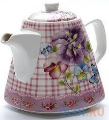 <b>Чайник заварочный Loraine</b> 22966-LR <b>1.1</b> л керамика розовый ...