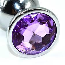 <b>Анальная пробка</b> со светло-фиолетовым кристаллом Kanikule ...