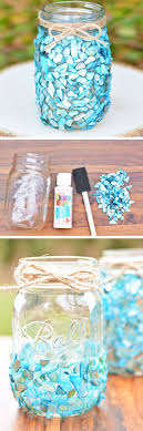 jar crafts home easy diy: beach inspired mason jar craft click pic for  diy seashell craft ideas for the