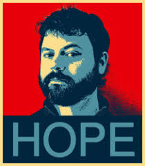 "David Roberts in ""Hope"" poster Over the last 10 years, I've been asked one question more than any other: Is there any hope? Or are we just f*cked? - roberts-hopeposter"