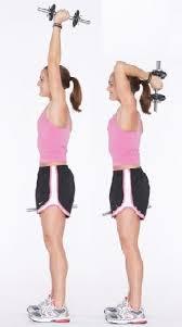 упражнение с гантелями