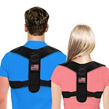 fouavrtel adjustable posture corrector back shoulder correction band humpback pain relief brace