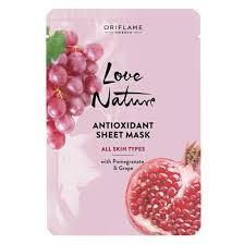 Антиоксидантная <b>тканевая маска с</b> гранатом и виноградом Love ...