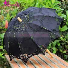 <b>Free shipping</b> White Beige Black Embroidery <b>Victorian</b> Lace Parasol ...