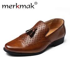 Merkmak Brogue <b>Shoes Men</b> High Quality <b>Tassel</b> British Style ...