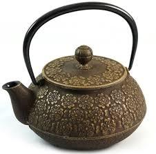 Iwachu <b>Cast</b> Iron Teapot with <b>Sakura</b> Blossom Pattern in Gold ...