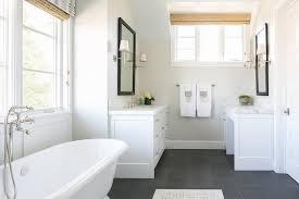 white bathroom floor: white bathroom with slate floor view full size