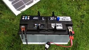 110Ah <b>Car</b> Battery connected to <b>80W</b> Solar Panel - YouTube