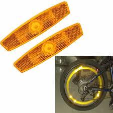 <b>1 Pair</b> bicycle spoke reflector warning light <b>bicycle wheel</b> rim ...
