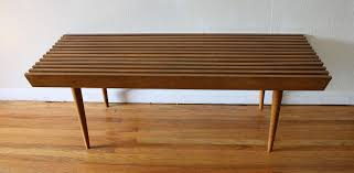 Coffee Table Into A Bench Mid Century Modern Slatted Coffee Table Bench Picked Vintage