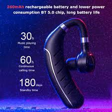 FC1 Business <b>Bluetooth 5.0</b> Headset <b>Wireless</b> Headphones Ear ...