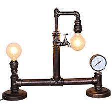 Vintage Desk Lamp, Motent Industrial Retro Steampunk Double ...