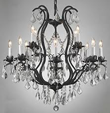 wrought iron crystal chandelier lighting chandeliers h30 x black chandelier lighting