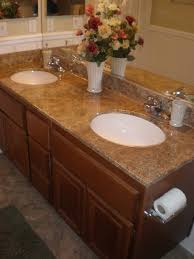 bathroom vanities tops choices choosing countertops: wild whitney  s faux granite countertop for less than  bucks
