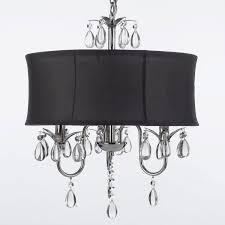 black chandelier lighting. modern contemporary black drum shade u0026 crystal ceiling chandelier pendant lightning fixture fan amazoncom lighting