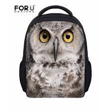 <b>FORUDESIGNS</b> Small <b>Children</b> School Bags Cool <b>3D</b> Owl Animal ...