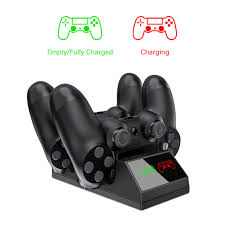 For PS4 Controller Charger Dock <b>Dual USB Charging</b> Stand Station ...