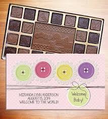 <b>Welcome Baby Personalized</b> Chocolate Box