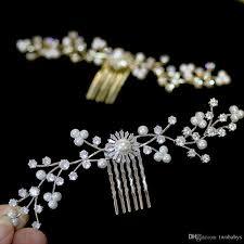 <b>High End CZ Bride Hair</b> Comb Elegant Silver Gold Wedding Hair ...