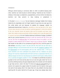 essay about bullying Lety essay final project Introduction Although school bullying is commonly taken to refer to students bullying