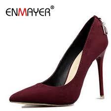 <b>Shoes ENMAYER Stiletto Heels</b> Woman Big Size 2019 Fashion ...