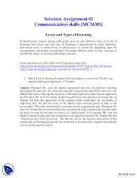 levels and types of listening part 1 mass communication assignment the document