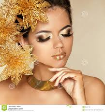 Image result for gold make up
