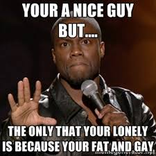 Your a nice guy but.... the only that your lonely is because your ... via Relatably.com