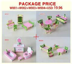 discount diy kitchen furniture wholesale 4set lot new children gift kids wooden toy furniture doll affordable dollhouse furniture