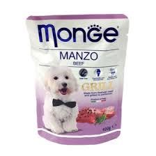 Влажный корм <b>Monge Dog Grill</b> Pouch для собак, говядина, <b>пауч</b> ...