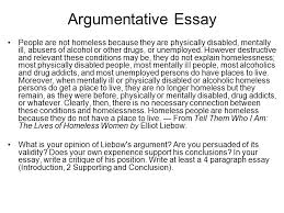homeless people essay  wwwgxartorg the essay an essay is a short piece of writing that discusses argumentative essay people are