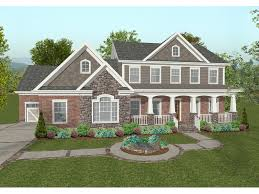 Chancellor Craftsman Home Plan D    House Plans and MoreTwo Story Craftsman Style Home With Covered Front Porch