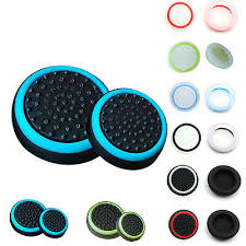 <b>4PCS Silicone Joystick</b> Thumb Stick Grips Cap Case for Sony PS3 ...