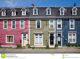 House Plans and Design  House Plans Canada NewfoundlandStock Image  Row Houses  St  John s  Newfoundland