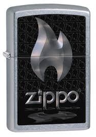 <b>Зажигалка ZIPPO Flame</b> Street Chrome латунь/никель-хром (28445)