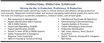 international oil gas operations leader candidate profile it it resume tips