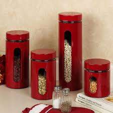 Green Kitchen Canister Set Kitchen Ceramic Stoneware Canisters With Birch Lane Bantam