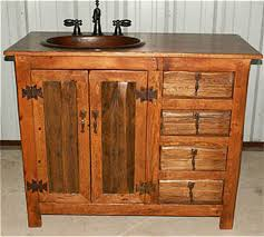 distressed cherry french country bathroom vanity