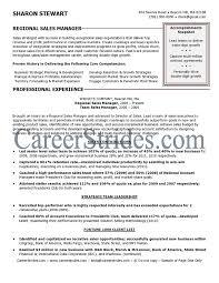 Sample Resume  Regional Sales Manager Resume Exle