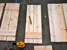 Best Wood To Make Outdoor Shutters How To Build Shutters Diy