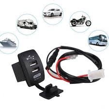 <b>12 24V</b> USB Cigarette Lighter Charger for <b>Motorcycle Auto</b> Truck ...