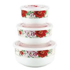 """<b>Набор</b> контейнеров Bekker """"<b>Красные</b> цветы"""", <b>3</b> шт — купить в ..."""
