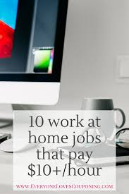 work at home jobs that pay per hour